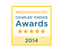 An image of weddingwires couples' choice award 2015 stamp Jeremy Robertson Wedding Films received for Toronto Wedding Videography