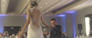 An Image of a bride dancing with her father on her wedding day at Blue Mountain Resort; taken from one of our Toronto Wedding Videorgraphy videos