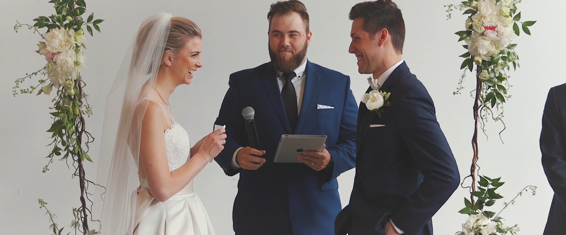 An image of a bride reciting her vows at her wedding ceremony; Toronto Wedding Video blog