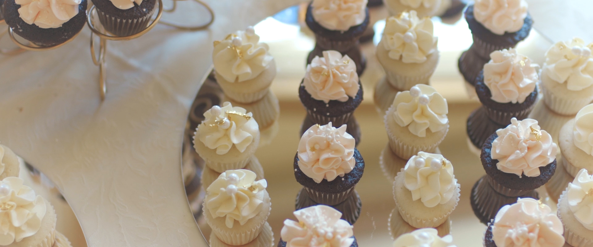 An image of pastries at a wedding reception; taken from a Toronto Wedding Video