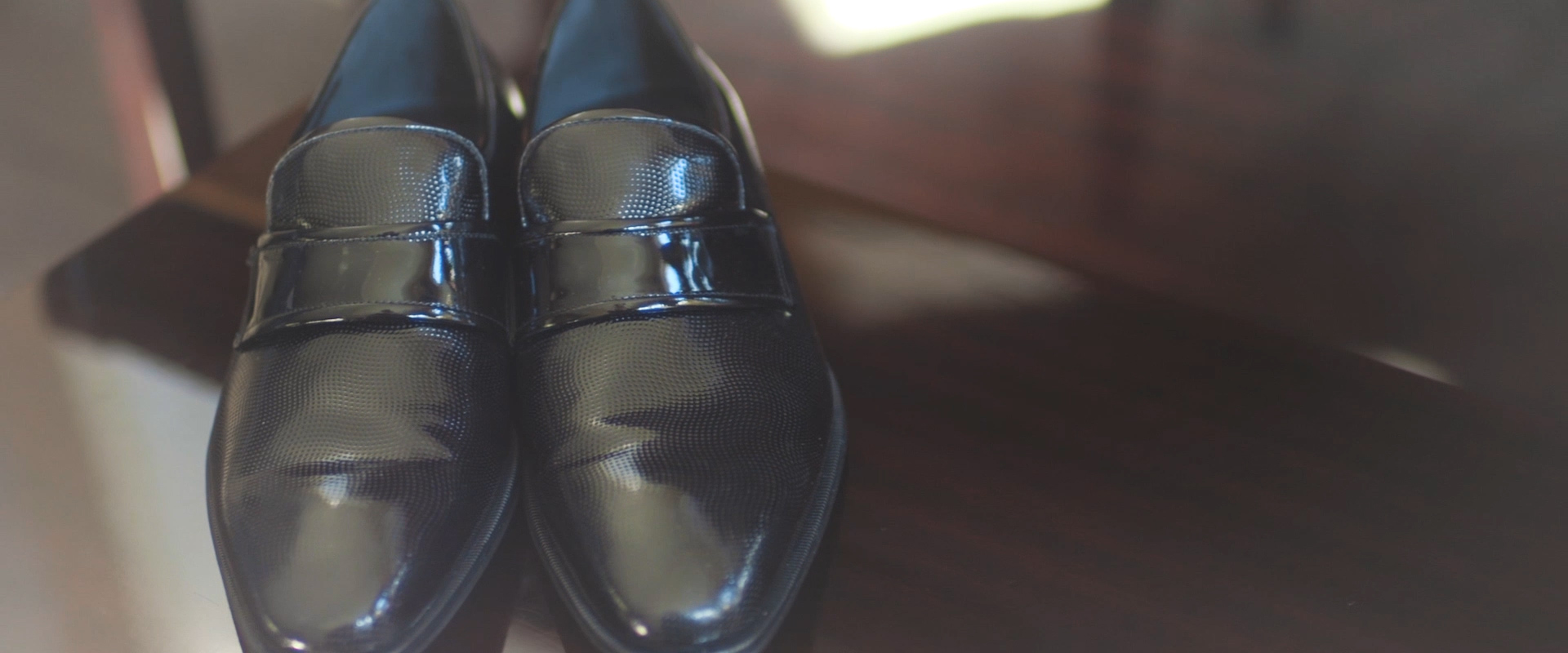 An image of a grooms wedding day shoes; taken from one of our Toronto Wedding Videos