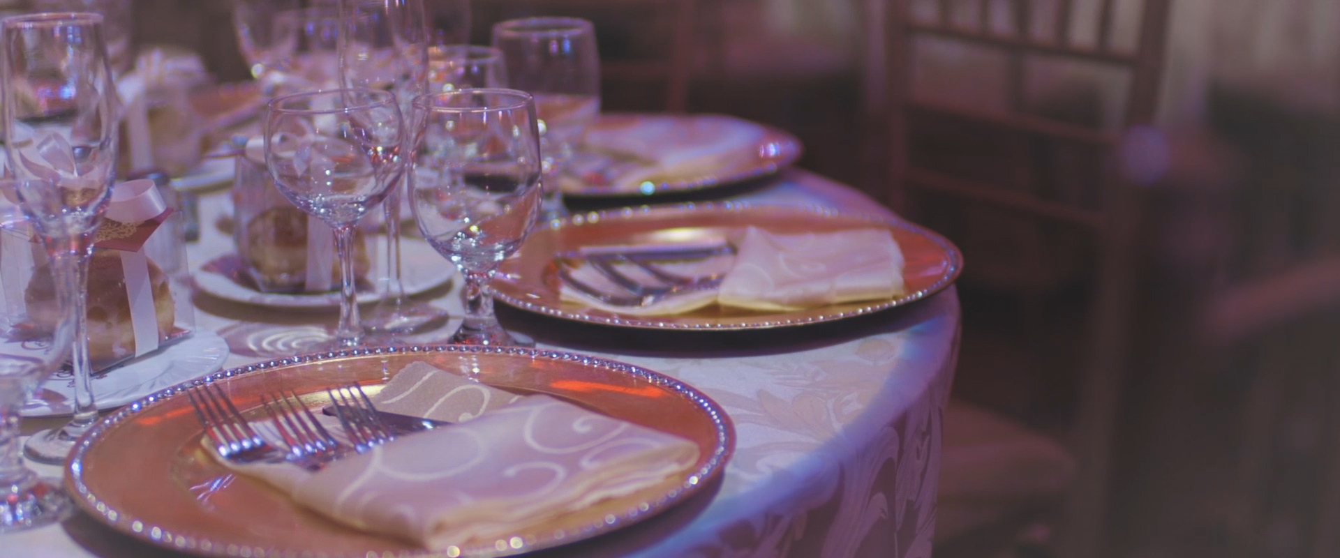 An image of a couples reception decor; taken from one of our Toronto Wedding Videos