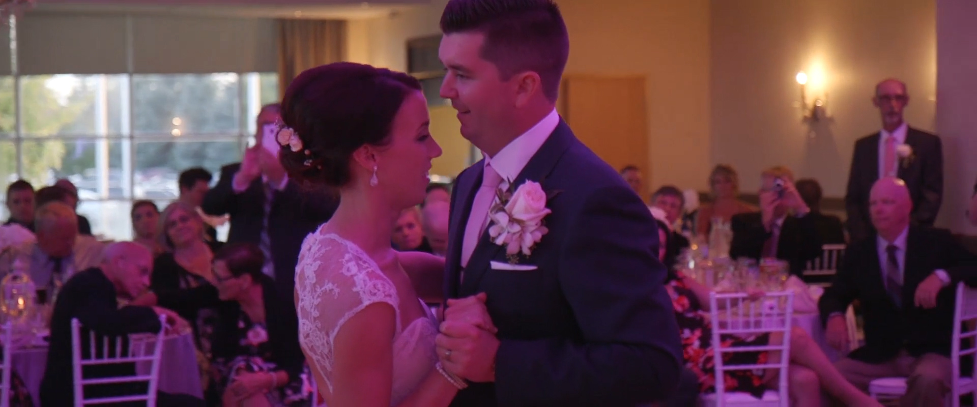 Image of a wedding couple dancing taken from one of our Toronto Wedding Videography videos