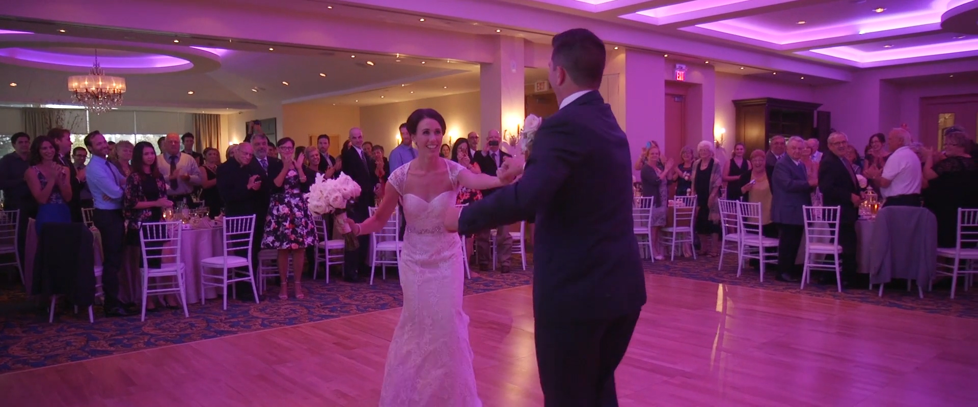 Image of a couple dancing taken from one of our Toronto Wedding Videography videos