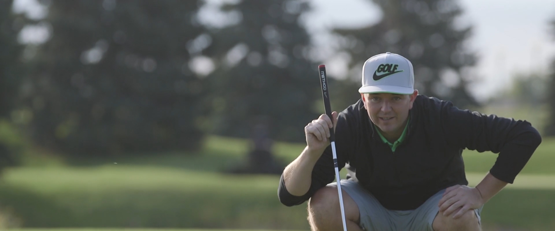 Image of a groom playing golf from one of our Toronto Wedding Videography videos